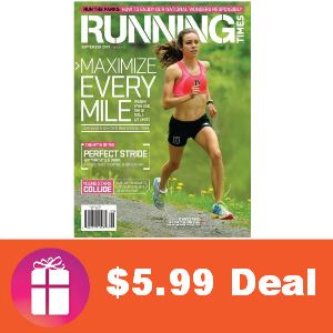 Deal $5.99 Running Times Magazine
