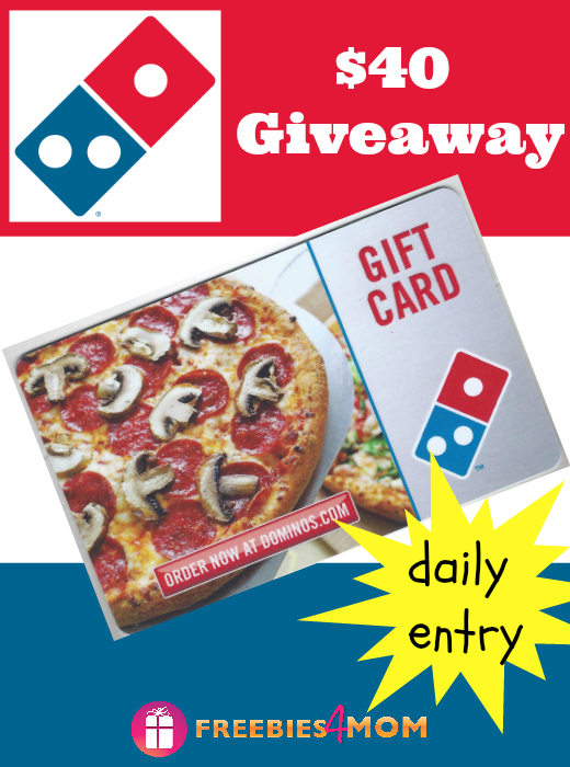 $40 Domino's PIzza Gift Card Giveaway