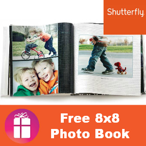Shutterfly Free 8x8 Photo Book