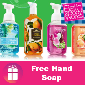 Free Bath & Body Works Hand Soap
