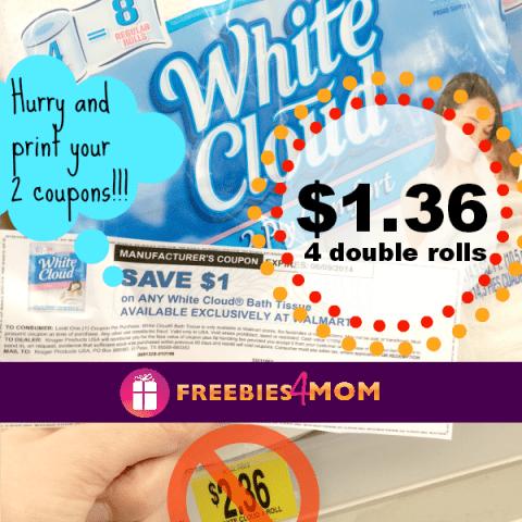 $1.00 White Cloud Printable Coupon
