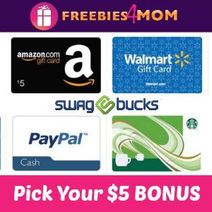 Swagbucks $5.00 Bonus