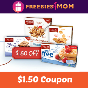 Save $1.50 on Van's Natural Foods