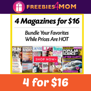 Magazine Deal 4 for $16