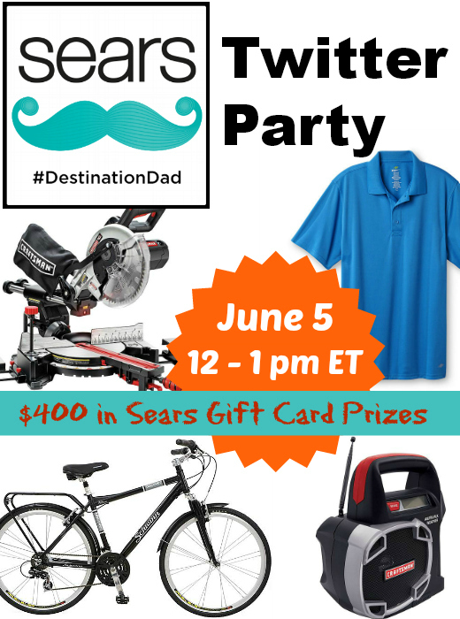 Sears #DestinationDad Twitter Party