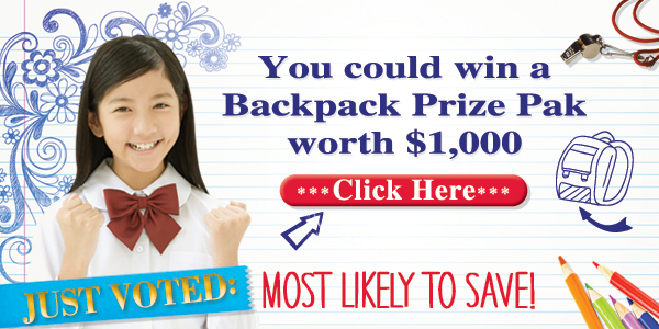 Win a $1,000 Backpack Prize Pak #Back2School #ad