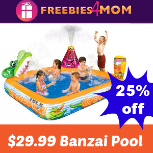 $29.99 Banzai Crocodile Isle Adventure Pool (25% off) #KmartSummerFun #ad
