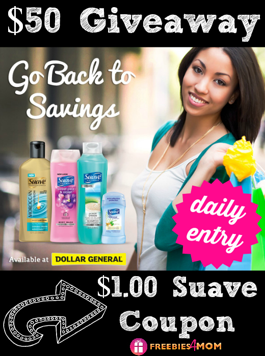 $50 Dollar General Gift Card Giveaway - Back to Savings with Suave