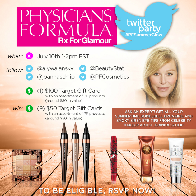 $550 in Prizes at #PFSummerGlow Twitter Party July 10 1-2 pm ET
