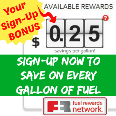 Fuel Rewards Network Sign-up Bonus