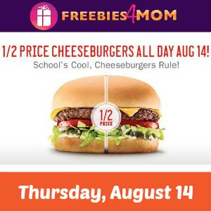 Sonic 1/2 Price Cheeseburgers Thursday