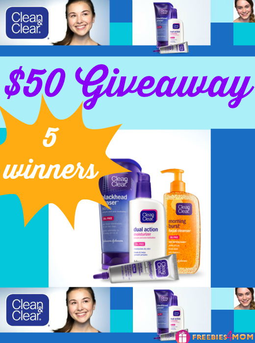 $50 CLEAN & CLEAR® Giveaway plus $1.00 Coupon