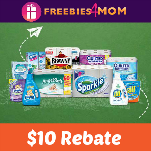 Rebate: $10 Back on Popular Household Brands