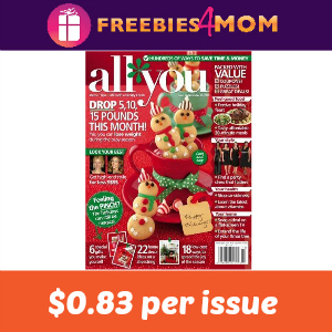 Magazine Deal: All You ($0.83 per issue)