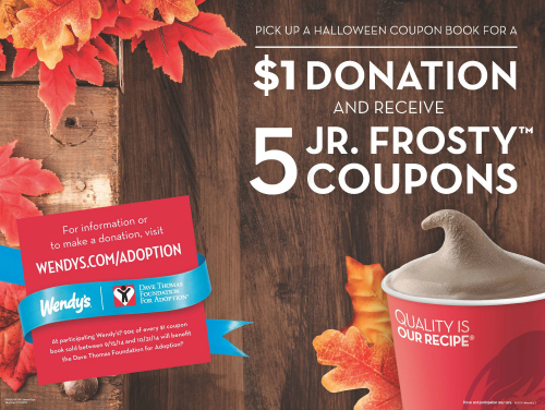 Wendy's Gives Back with Frosty Coupon Book