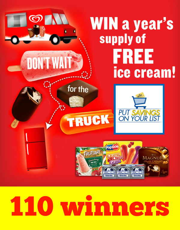 Win a Year's Supply of Ice Cream from Food Lion *Limited States*