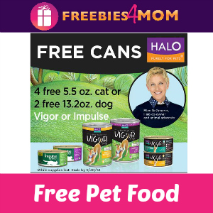 Free Halo Dog or Cat Natural Pet Food