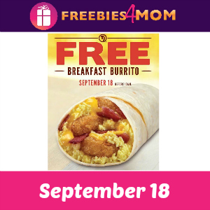 Free Breakfast Burrito at Taco John's Tomorrow