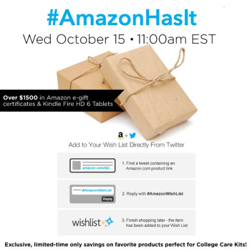 #AmazonHasIt-Twitter-Party-10-15,#TwitterParty,#shop,sweepstakes on Twitter