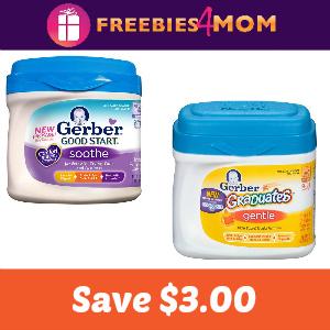 Coupons: Save $3.00 on Gerber Formula