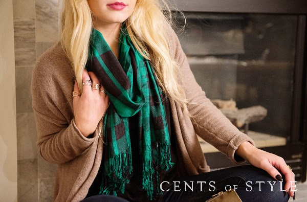 Cents of Style Emily Plaid Scarf Deal