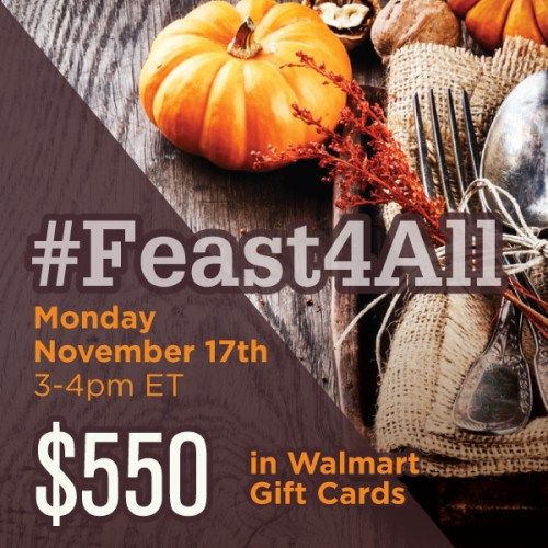 #Feast4All-Twitter-Party-Nov17-3pmET,#TwitterParty,#shop, sweepstakes on Twitter