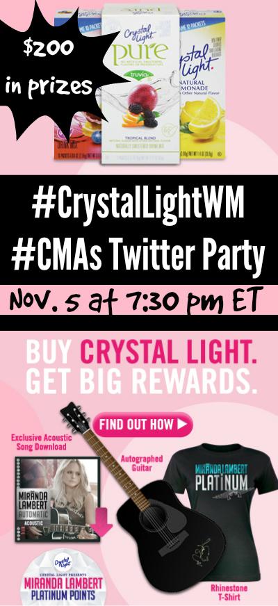 #CrystalLightWM #CMAs Twitter Party