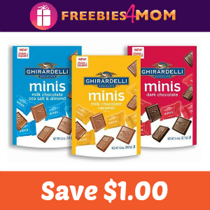 Coupon: $1.00 Off Ghirardelli Minis Pouch