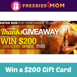 Sweeps Red Plum ThanksGiveaway