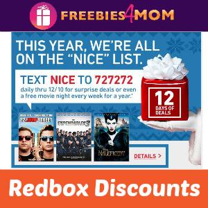 Redbox 12 Days of Deals