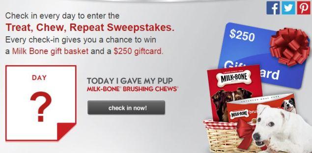 Milk-Bone® Brushing Chews™ Check In Sweepstakes