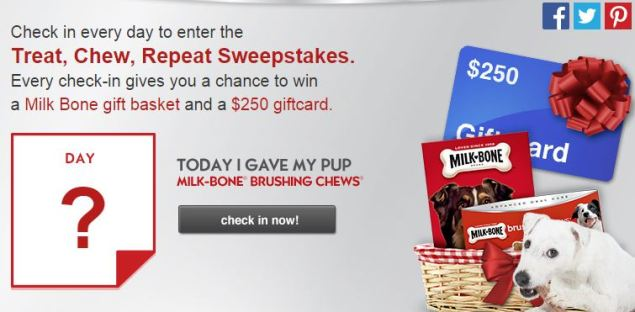 Milk-Bone® Brushing Chews™ Check In Sweepstakes