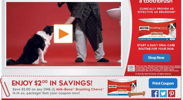 Milk-Bones Brushing Chews Coupon