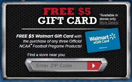 Free $5 Gift Card
