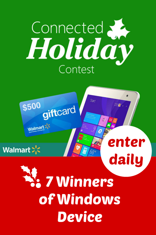$500 Walmart Gift Card with HP Stream 14 Giveaway ~ Microsoft Connected Holiday
