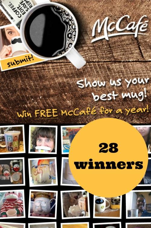 Win McCafe Coffee for a Year (28 winners)