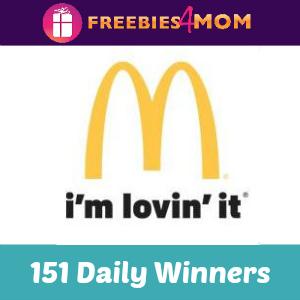 Sweeps My Coke Rewards Holiday McDonald's