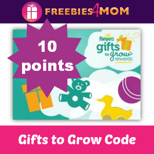 Free 10 point Pampers Gifts to Grow Code