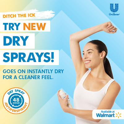 Dry Sprays at Walmart #TRYSPRAY