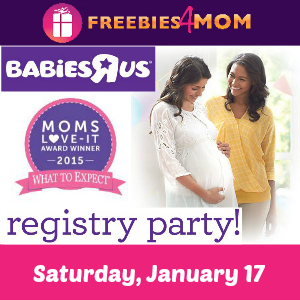 Free Registry Party at Babies R Us Jan. 17