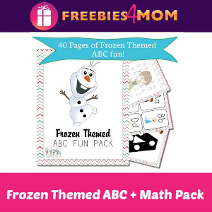 Free Frozen-Themed ABC + Math Pack