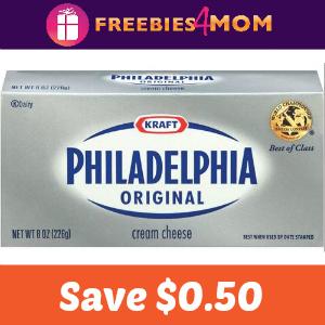 Save $0.50 on Philadelphia Cream Cheese