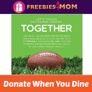 Chili's Donates to St. Jude When You Dine Sunday