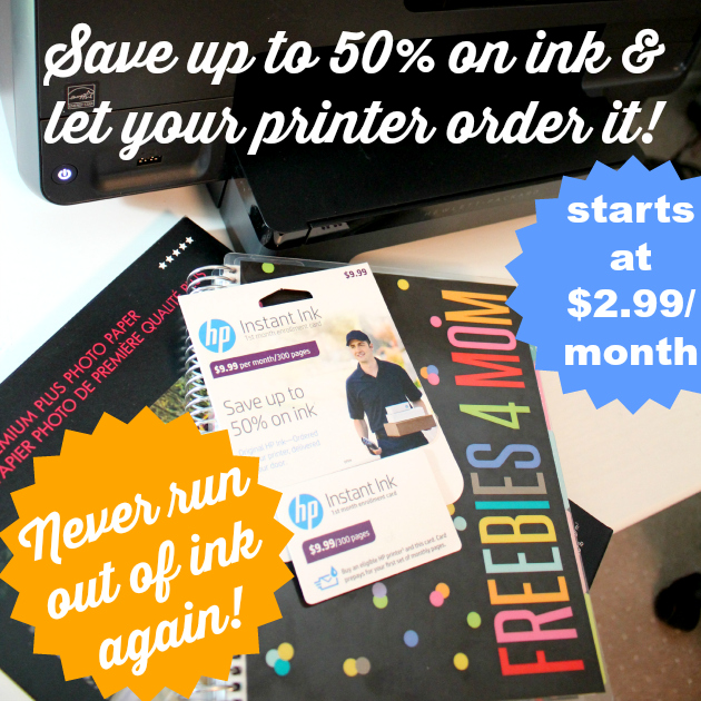 Save up to 50% on ink and let your printer order it!