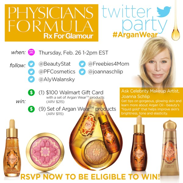$1250 in Prizes at #ArganWear Twitter Party Feb. 26 1pm ET