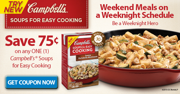 Campbell's® Soups for Easy Cooking Coupon at Walmart