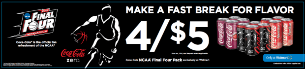 Coca-Cola NCAA® Final Four Pack Deal at Walmart