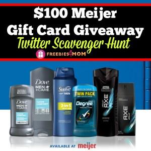 $100 Meijer Gift Card Giveaway Winner