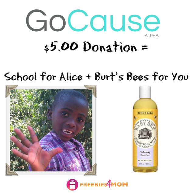 Donate $5.00, Get Burt's Bees Shampoo ($9 value)