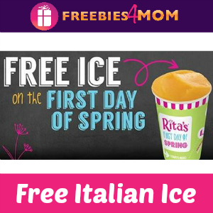 Free Italian Ice at Rita's Italian Ice March 20